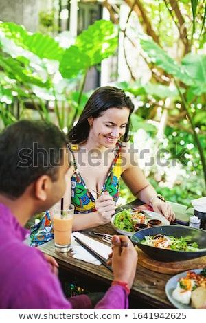 два · молодые · люди · кухне · гостиной · человека · домой - Сток-фото © hasloo