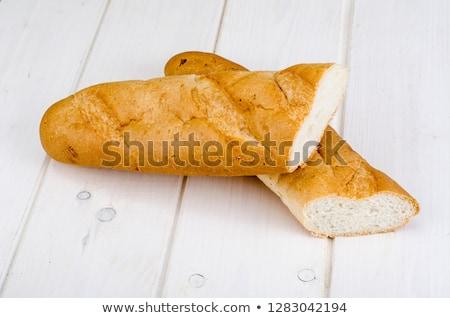 longo · pão · pão · isolado · branco · textura - foto stock © oleksandro