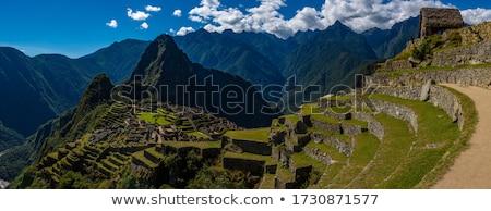 Перу Южной Америке город пейзаж синий красный Сток-фото © xura