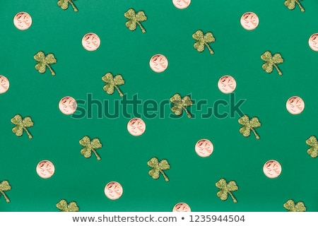 verde · sem · costura · trevo · folhas · ilustração · vetor - foto stock © aliaksandra