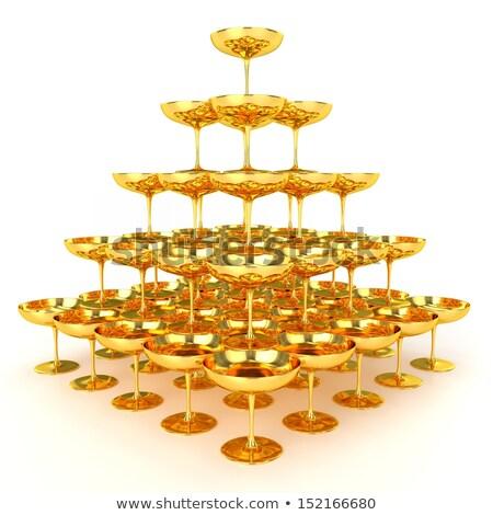 piramis · 3D · generált · kép · különleges · munka - stock fotó © daboost