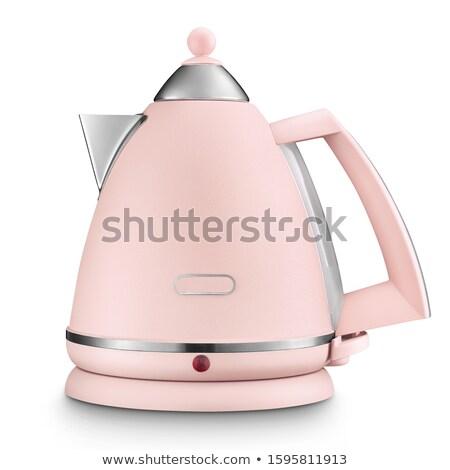 Elektromos fehér bogrács ital tea elektromosság Stock fotó © ozaiachin