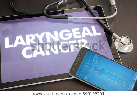 Laryngitis on the Display of Medical Tablet. Stock photo © tashatuvango