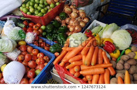 キャベツ · カリフラワー · 市場 · 新鮮な · ダイエット - ストックフォト © elxeneize