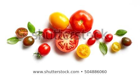 свежие · зрелый · помидоров · красочный · деревенский · белый - Сток-фото © barbaraneveu