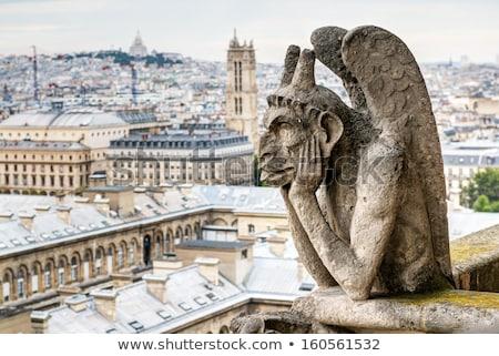 architectural details of cathedral notre dame de paris stock photo © sarymsakov
