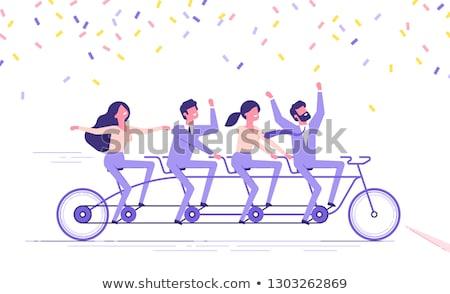 Equipo cuatro personas imagen grupo de personas feliz victoria Foto stock © joseph_arce