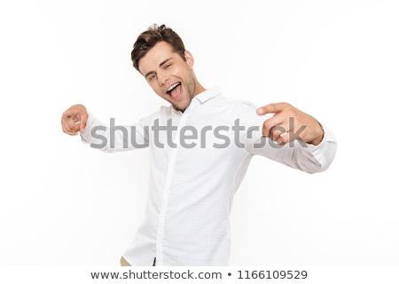 élégant Guy blanche souriant studio modèle Photo stock © mettus