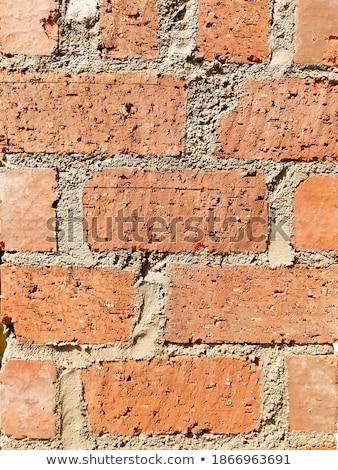 porous texture of a medieval brick wall stock photo © leowolfert
