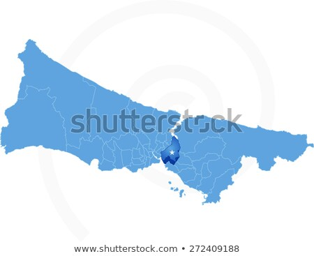 Istanbul Map with administrative districts where Uskudar is pull Stock photo © Istanbul2009