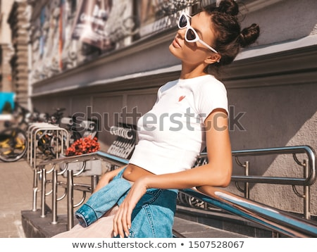Sexy thoughtful woman Stock photo © acidgrey