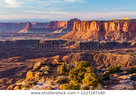 Sunset Soda Springs Basin Green River Canyonlands National Park Stock photo © cboswell