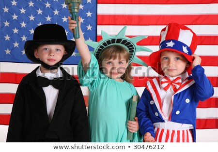 girl dressed as the Statue of Liberty Stock photo © adrenalina