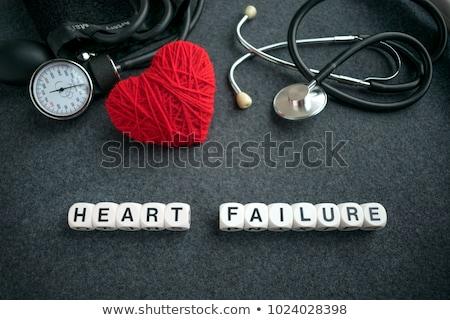 Hart mislukking diagnose medische afgedrukt Rood Stockfoto © tashatuvango
