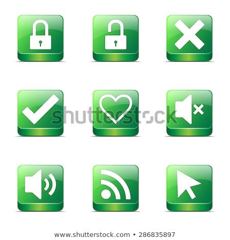 Stock photo: SEO Internet Sign Square Vector Green Icon Design Set 4