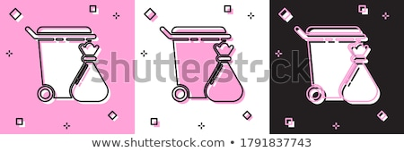 Protection Web Internet Pink Vector Button Icon Design Set Stock photo © rizwanali3d