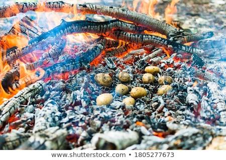 potatoes in the fire stock photo © joyr
