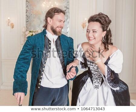 Royal couple échecs ciel fond Voyage Photo stock © Niciak