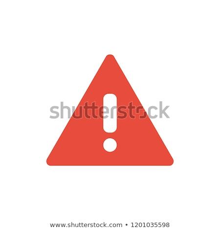 ストックフォト: 危険標識 · 赤 · ベクトル · アイコン · デザイン · デジタル