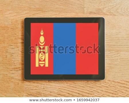 Tablet Mongolië vlag afbeelding gerenderd Stockfoto © tang90246