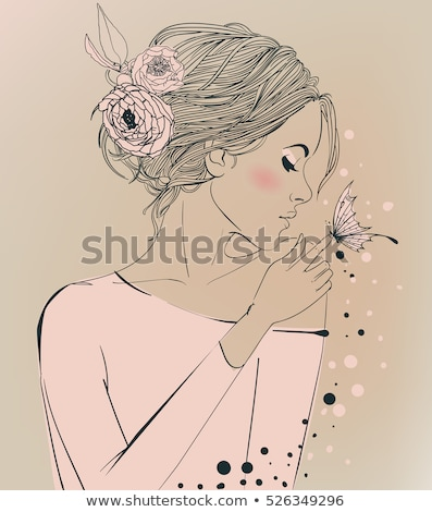 inocente · novia · primer · plano · encantador · flor - foto stock © andersonrise