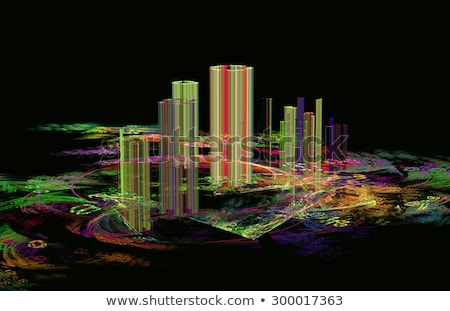 Illustration fractal abstraction flou ville fantôme ville Photo stock © yurkina