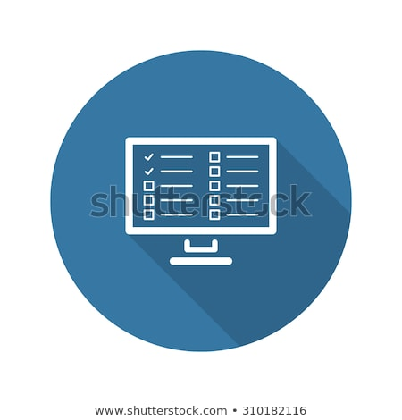 Online Survey Results and Medical Services Icon. Flat Design. Stock photo © WaD