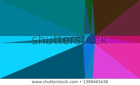Medium Teal Blue Abstract Low Polygon Background Stock photo © patrimonio
