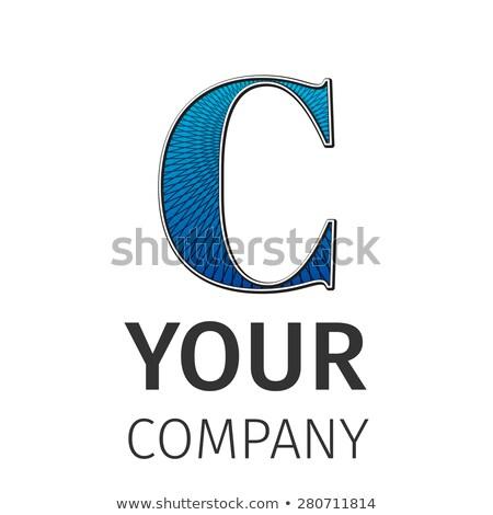 Abstract guilloche Logo, letter-C Stock photo © netkov1
