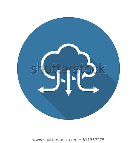 Accelerate Your Cloud Icon. Business Concept. Flat Design. Long  Stock photo © WaD