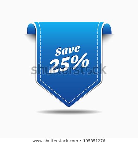 Kurtarmak 25 yüzde mavi vektör ikon Stok fotoğraf © rizwanali3d