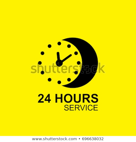 24 Hours Open Yellow Vector Icon Design stock photo © rizwanali3d