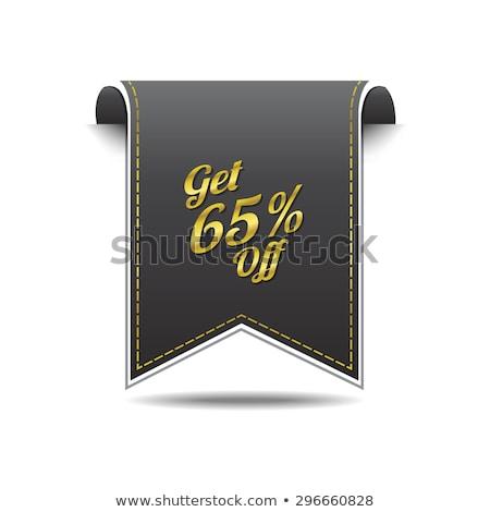 Get 65 Precent Off golden Vector Icon Stock photo © rizwanali3d