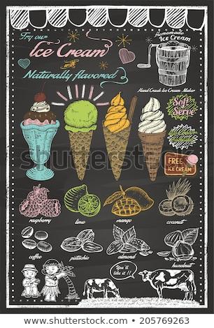 少女 アイスクリーム サンデー コーン 実例 アスレチック ストックフォト © Morphart
