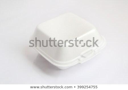 Biały piana polu tekstury żywności obiad Zdjęcia stock © ozaiachin