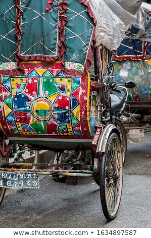 colorful nepalese rickshaw in the streets of kathmandu Stock photo © Mariusz_Prusaczyk
