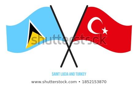 Türkiye aziz bayraklar bilmece yalıtılmış beyaz Stok fotoğraf © Istanbul2009