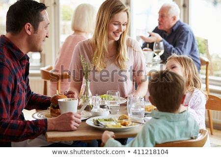 Familie hotel diner huis vrouwen hart Stockfoto © Paha_L