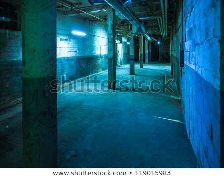 Dimly Lit Wall in Industrial Buildings Stock photo © stryjek