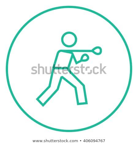 braço · bandagem · homem · silhueta · vetor · ícone - foto stock © rastudio