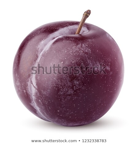 sweet plum isolated on white background cutout stock photo © constantinhurghea