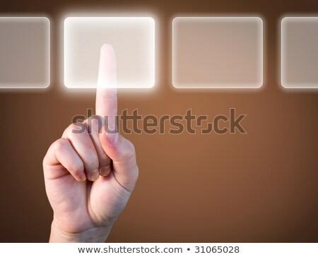 Escolher o melhor opção tecnologia tocar negócio Foto stock © scornejor