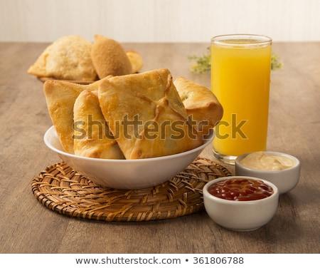 Carne mesa sosa jugo de naranja desayuno Foto stock © paulovilela