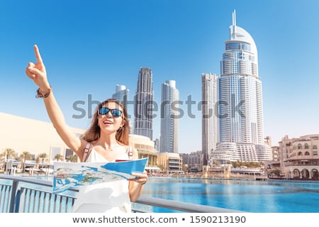 Tourist sightseeing with city map in Indonesia Stock photo © Kzenon
