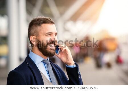 adulto · masculino · falante · celular · caucasiano · homem - foto stock © deandrobot