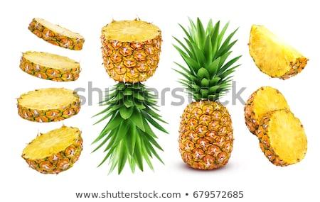 ripe pineapple isolated Stock photo © alrisha