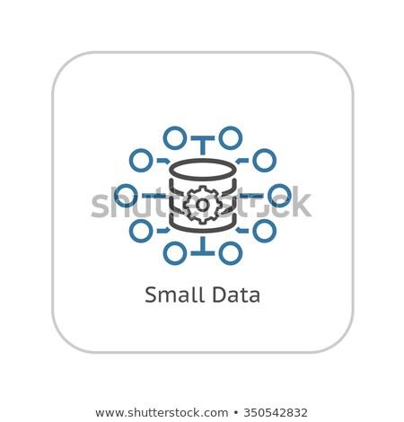 small data icon stock photo © wad