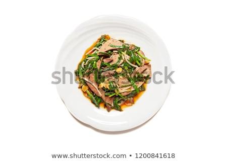 Lever kip diner peper maaltijd Stockfoto © Digifoodstock