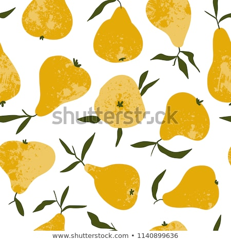 Retro colorful pears pattern Stock photo © cienpies