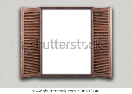clean gray wall with opened window stock photo © cherezoff